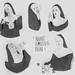 nuns having fun by Nada Hayek