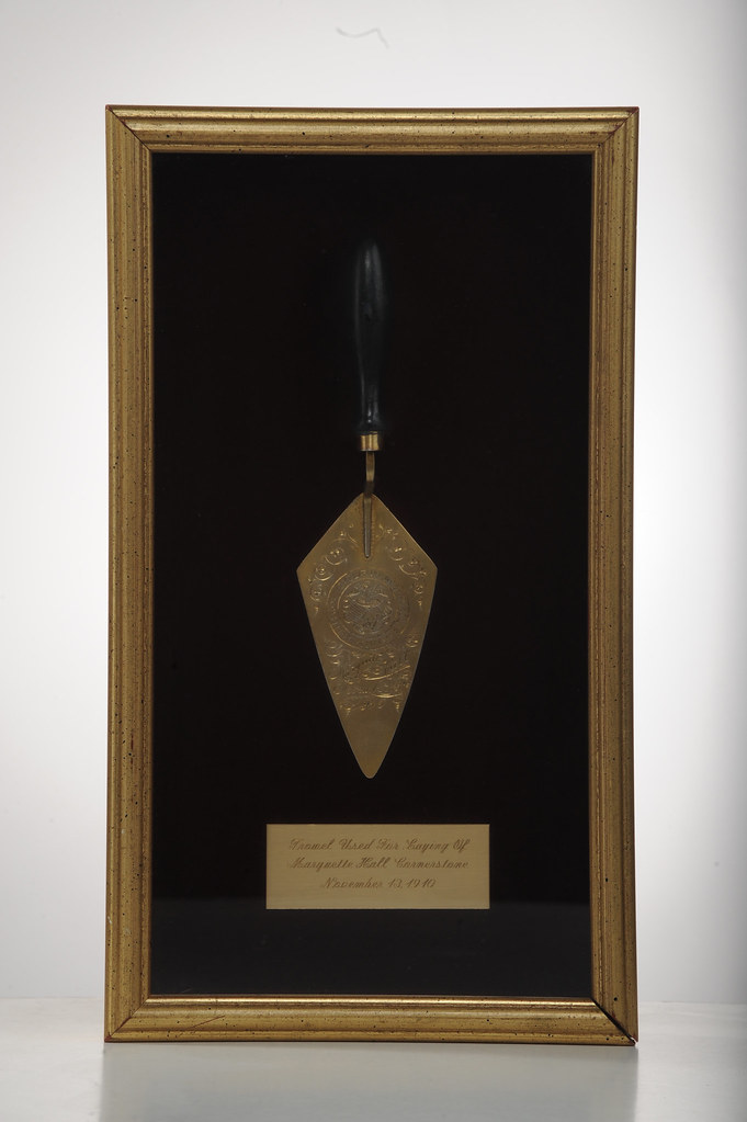 Trowel Used for Laying the Marquette Hall Cornerstone