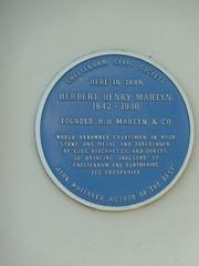 Photo of Herbert Henry Martyn blue plaque