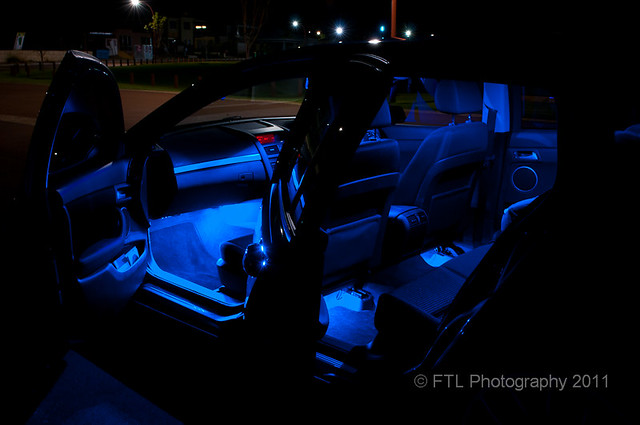 car interior with blue led footwell lights and courtesy lamps flickr photo sharing. Black Bedroom Furniture Sets. Home Design Ideas