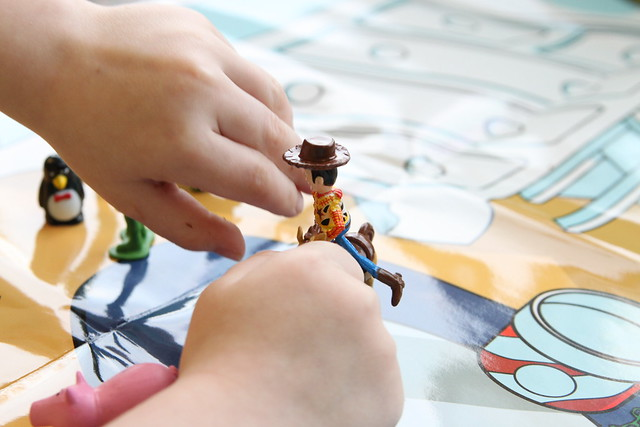 toy story book with figurines