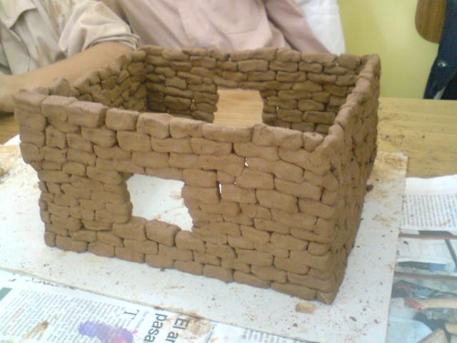 Maqueta de casa de adobe house of adobe une maison de - Como hacer una maqueta de una casa ...