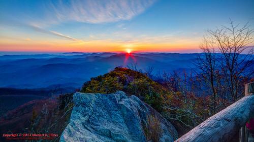 usa sunrise landscape geotagged spring unitedstates hiking tennessee hdr cosby greatsmokymountainsnationalpark gsmnp photomatix crestmont sigma1020mmf456exdc mountcammerer canon7d nashvillehikingmeetup catonsgrove geo:lat=3576358910 geo:lon=8316127837