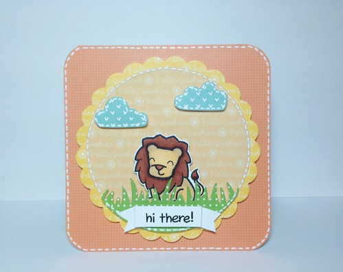 "Lawn Fawn Mini ""Hi There!"" Card"