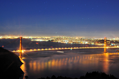 Twinkling lights of the Golden Gate