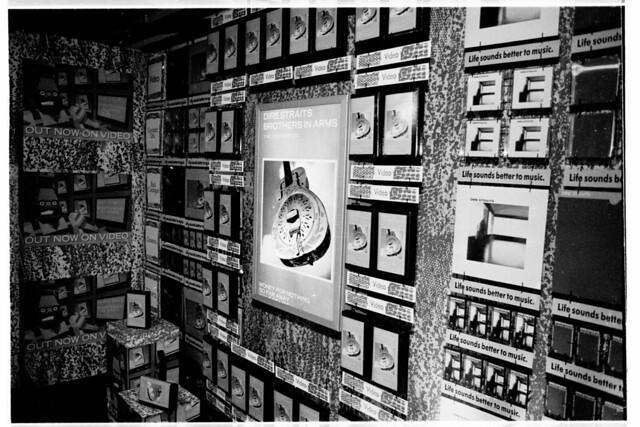 Dire Straits video window display 1985