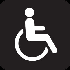 wheelchair accessible black.