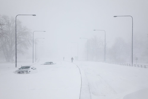 Lake Shore Drive in the Blizzard