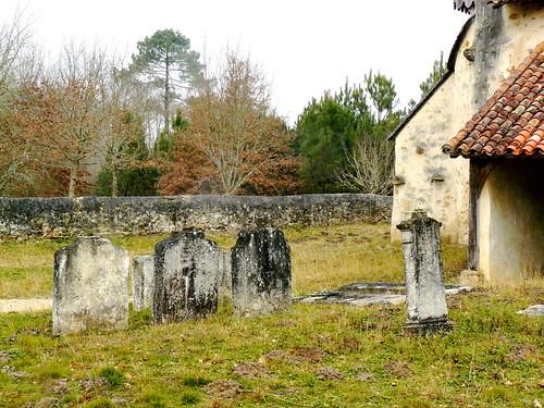 Saint Perdon (Landes): le cimetière de la chapelle Saint Orens