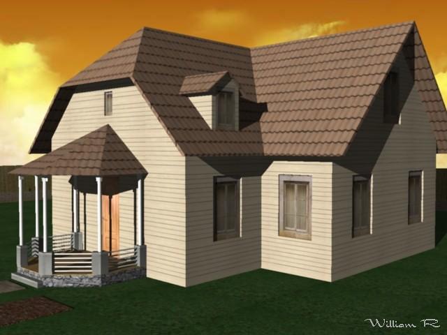 Casa estilo colonial ingles en 3d flickr photo sharing - Casas estilo ingles ...