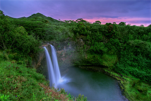 longexposure nature sunrise hawaii waterfall wide kauai wailua flickraward5