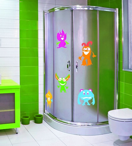 Sabri decoradora decorar un ba o infantil - Mamparas de bano con dibujos ...