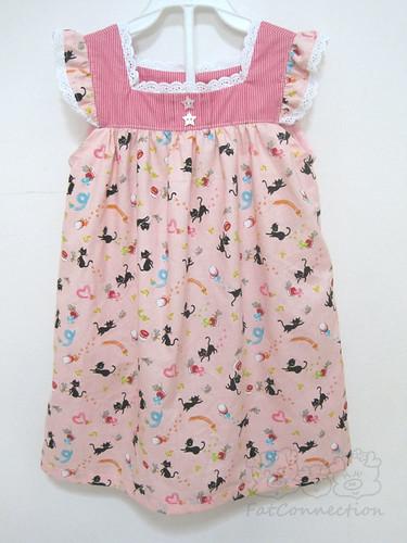 children dress, japanese fabric, handmade, cosmo, lecien, sweet, cute