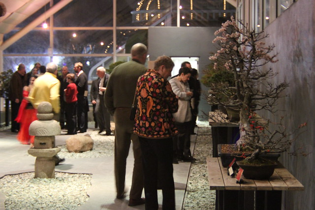 Visitors take a tour of the Bonsai Museum at Small Scale. Photo by Rebecca Bullene.