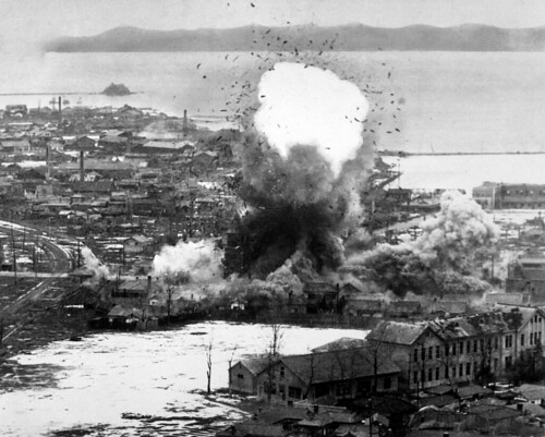 Bombs Dropped on Wonsan, North Korea