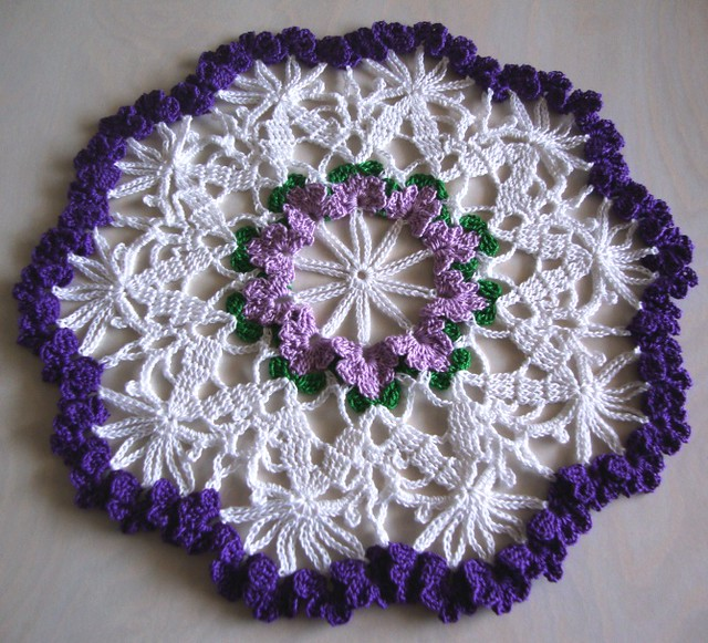 Crochet Galore: Crocheted Doily Coaster