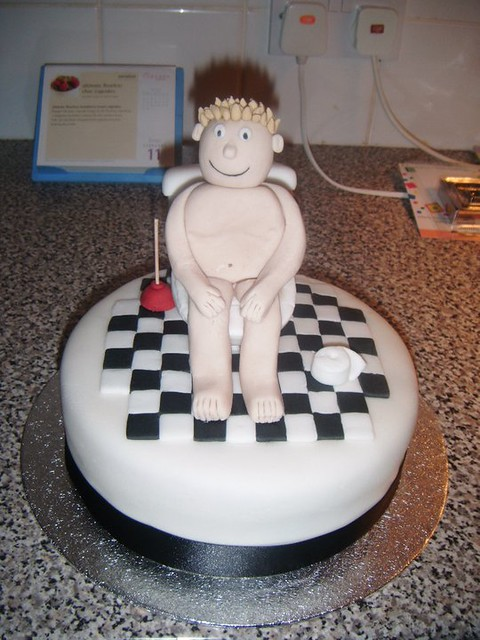 Man on toilet cake 2 Flickr - Photo Sharing!