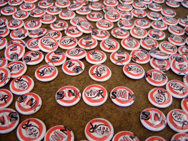 buttons for Sink Or Swim Tattoo Shop
