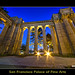 San Francisco Palace of Fine Arts in Twilight blue moment