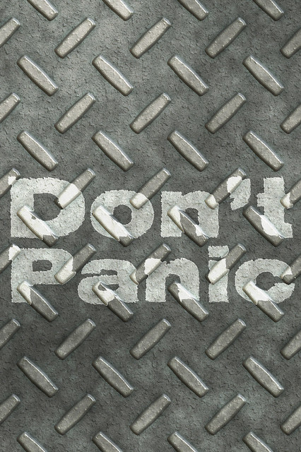 Don't Panic iPhone Background