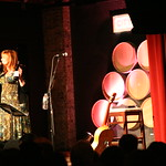 February 26, 2010 - Claudia Marshall introduces a great show for WFUV Members and Raul Malo fans. Photo by Alisa Ali
