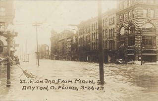 East on Third from Main, Dayton, OH - 1913 Flood