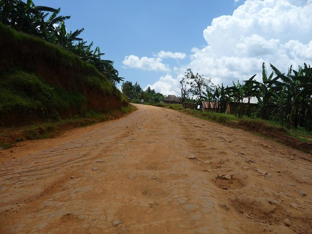 Almost the worst road in Uganda