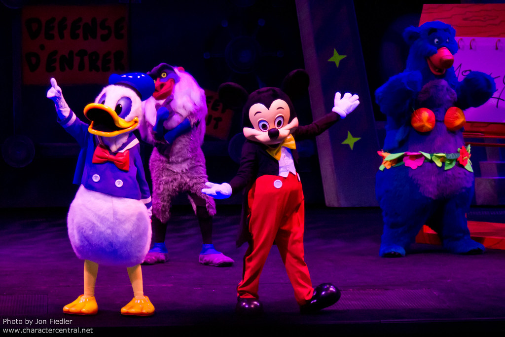 Mickey Mouse and Donald Duck During Animagique