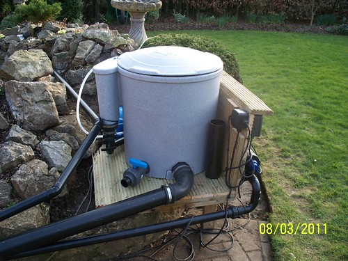 Easy pod installation pond design and construction forum for Pond filter setup