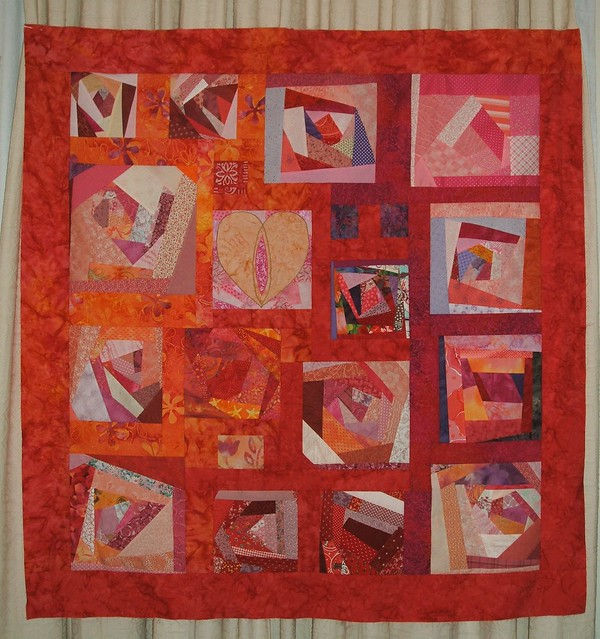Crazy Women quilt top