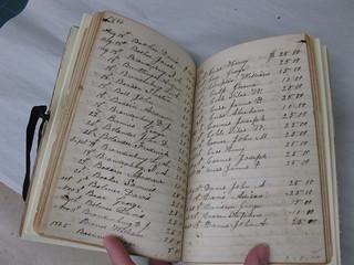 militia book, resew rebind, box