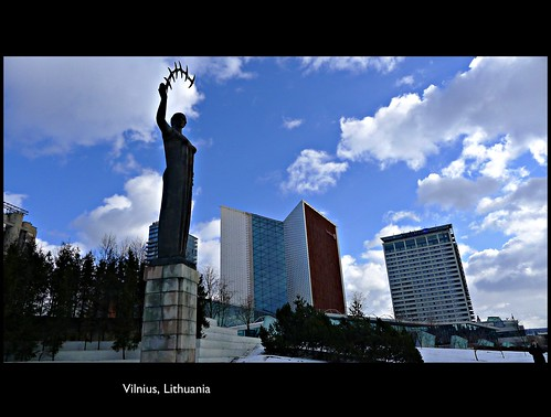 [ Architectural Lines : Beautiful sky : Wonderful Discoveries ] Vilnius, the capital of Lithuania - Her modern Face - ENJOY!