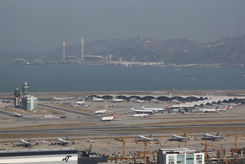 Overview of the terminal at Hong Kong International Airport