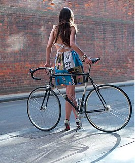 Dress girl with Bicycle