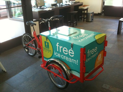 Umpqua Bank Advertising Tricycle by portlandpedalworks