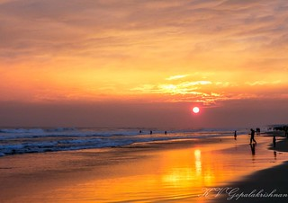 A Beautiful Sunset at Puri