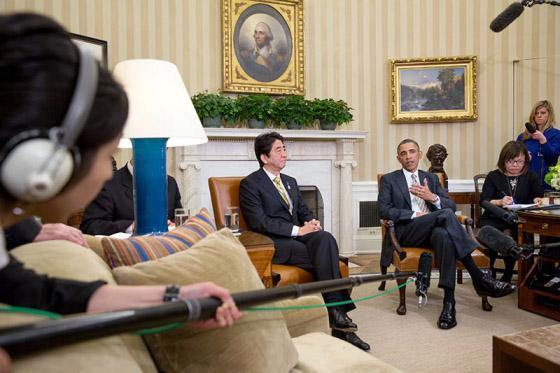 Shinzo Abe & Barack Obama