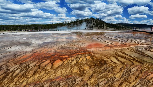 Grand Prismatic Spring Panorama, Yellowstone National Park, WY
