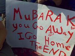 Mubarak You Go Away, I Go Home. The End