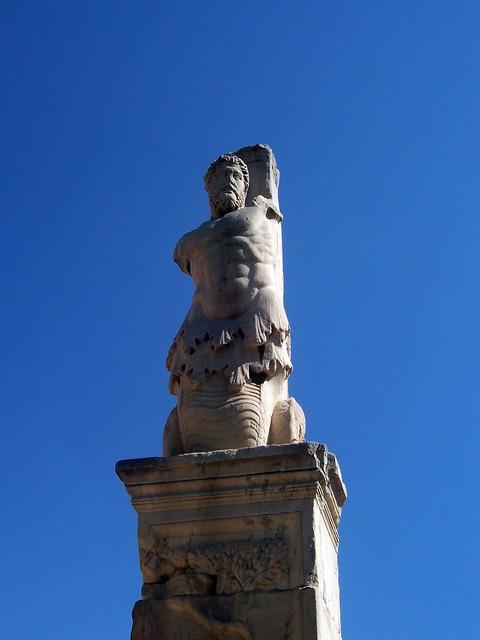 Portico of the Giants: a triton, Ancient Agora of Athens