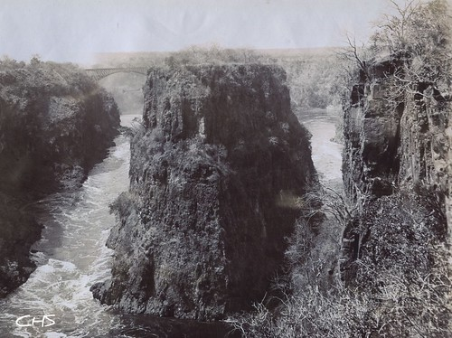 Rhodesia 1905  Zambessi Bridge from the Eastern Gorge by Claire Stocker (Stocker Images)