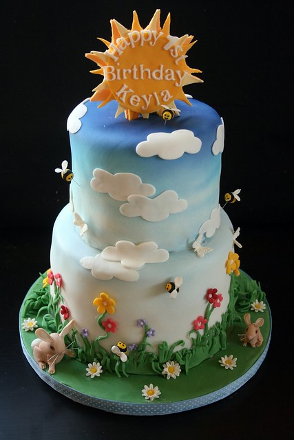 Keyla S Spring Themed Birthday Cake Flickr Photo Sharing
