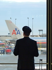 American Airlines Pilot, O'Hare Airport, Chicago