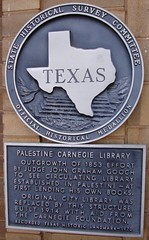 Photo of Andrew Carnegie black plaque