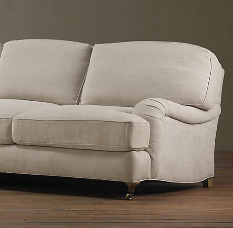 restoration hardware englished rolled arm sofa flickr photo