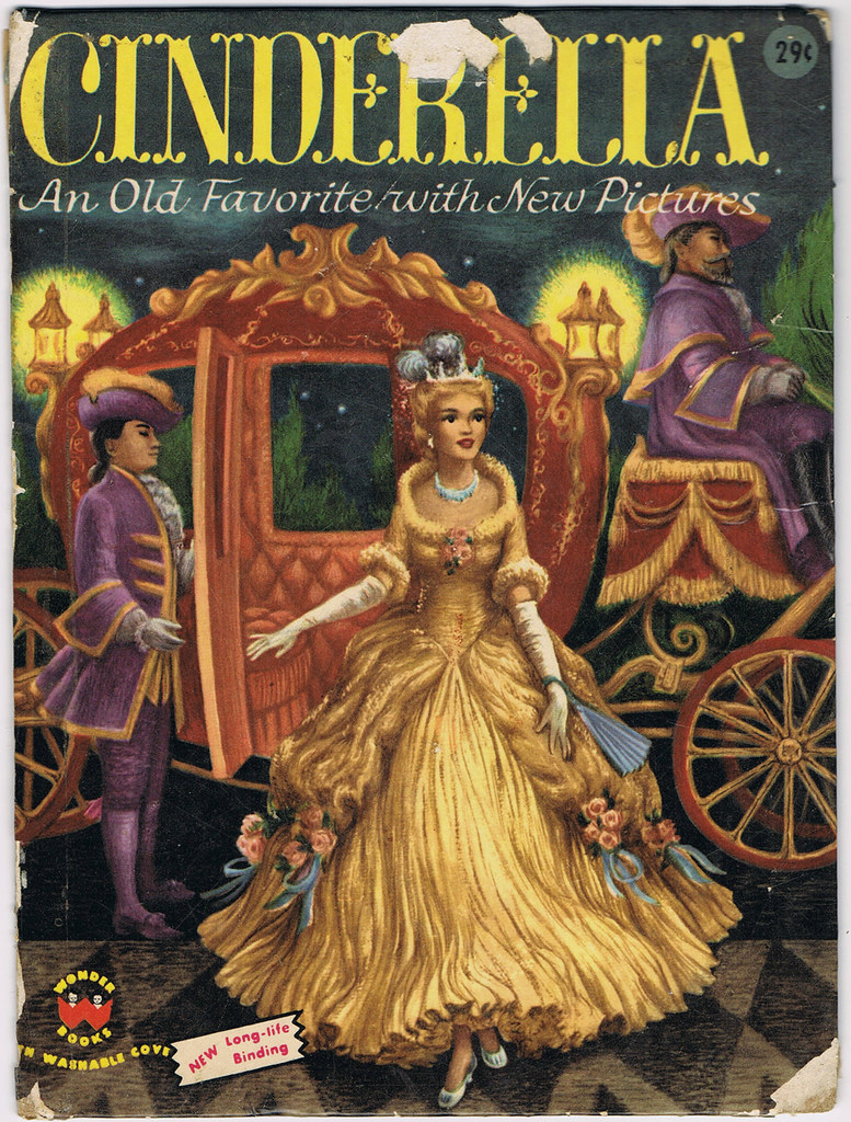 Illustrated Book Cover Generator : Cinderella wonder books illustrator ruth ives