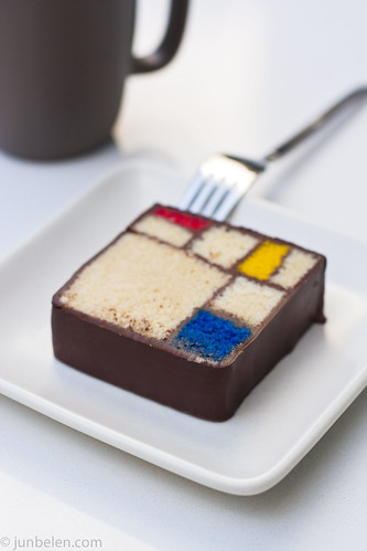 Mondrian Cake with Blue Bottle Coffee