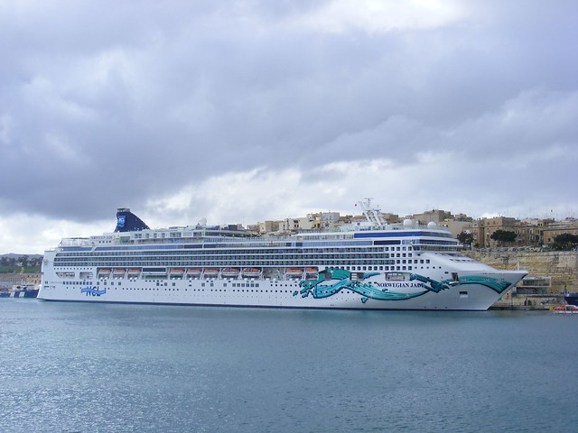 Norwegian Jade Cruise ship, Valletta, Malta Feb 2011