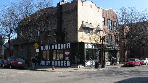The Busy Burger on West Taylor Street. Chicago Illinois USA. Wednsday, March 16th, 2011. by Eddie from Chicago