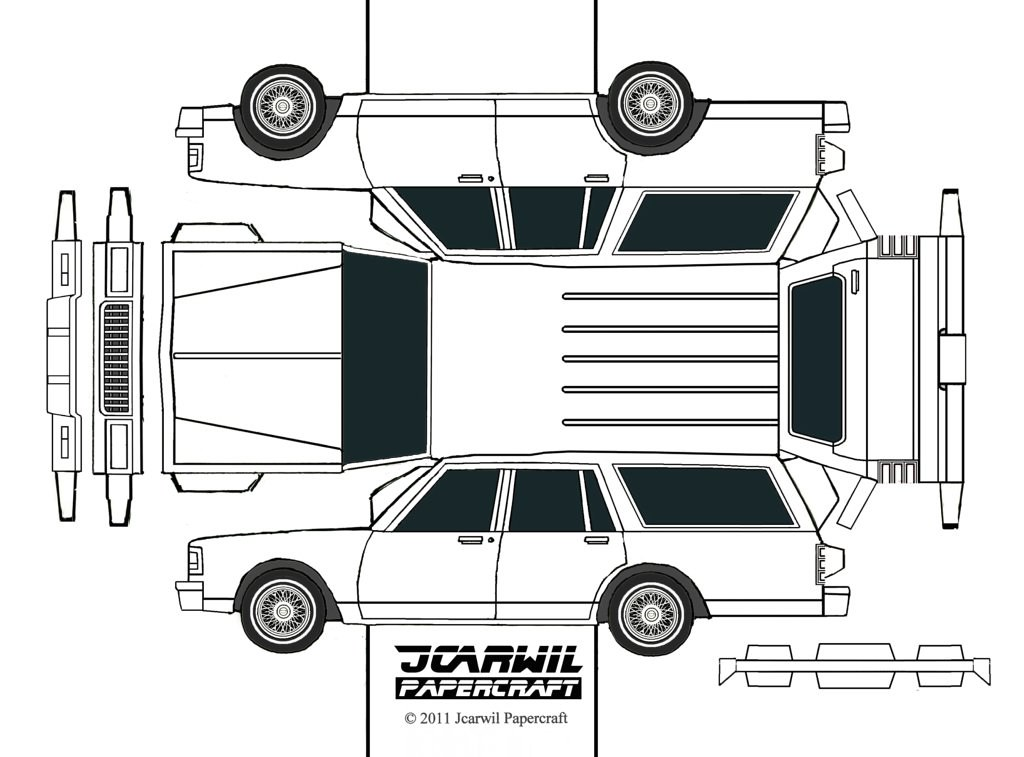jcarwil papercraft  u0026 39 90 chevy caprice estate wagon